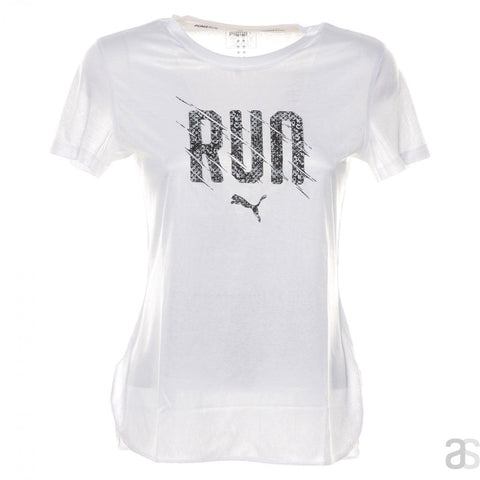 Playera Puma Run Tee Blanca