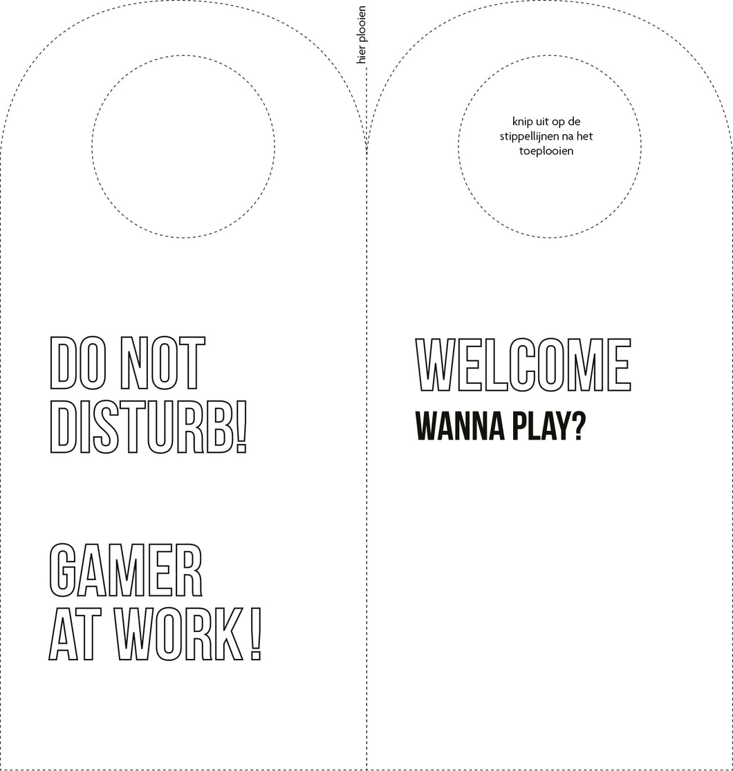 Do not disturb gamer - Kleurplaat