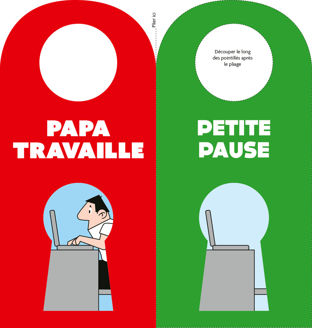 Papa travaille