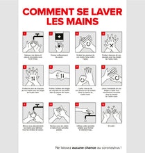 Afbeelding in Gallery-weergave laden, Affiche 12: Comment se laver les mains?