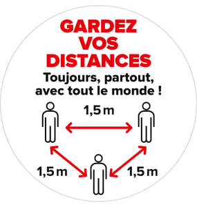 Vloersticker 04: Gardez vos distances
