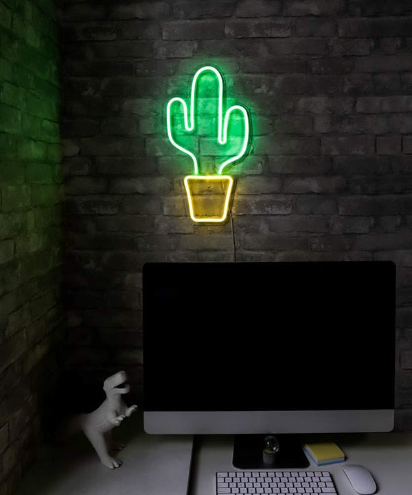 Cactus LED Neon Sign by Ocean Galaxy Light™