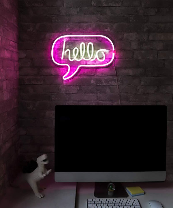 Hello LED Neon Message Sign by Ocean Galaxy Light™
