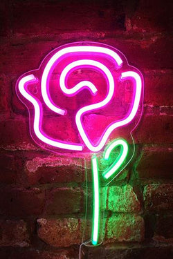 Rose LED Neon Flower Sign by Ocean Galaxy Light™
