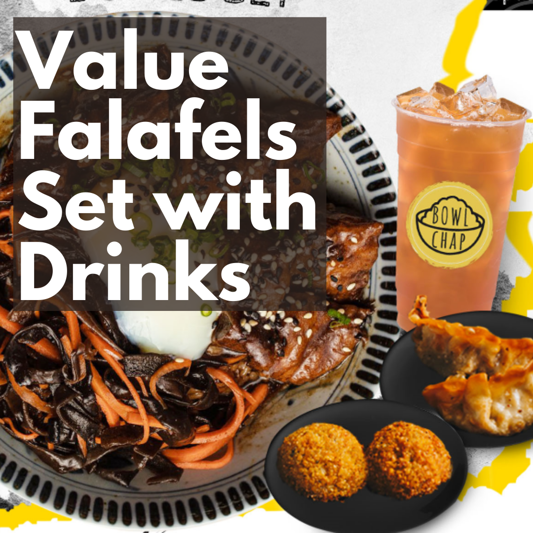 Value Falafels Set with Homemade Drinks of The Day