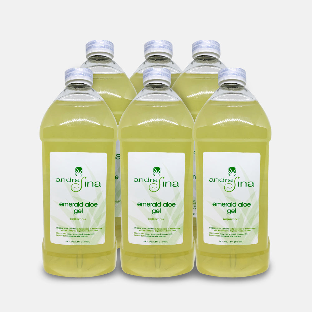 Emerald Aloe Gel With Irish Moss <br>64 oz - Pack Of 6