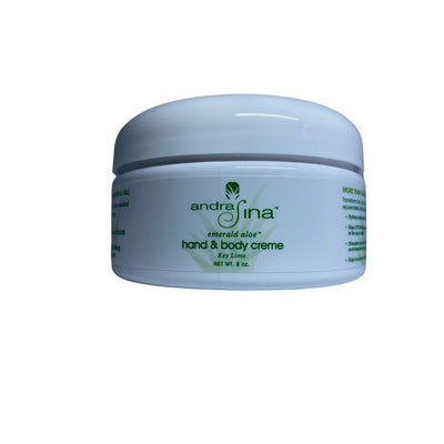 Hand & Body Creme Key Lime or Petals <br> 8 oz. Jar
