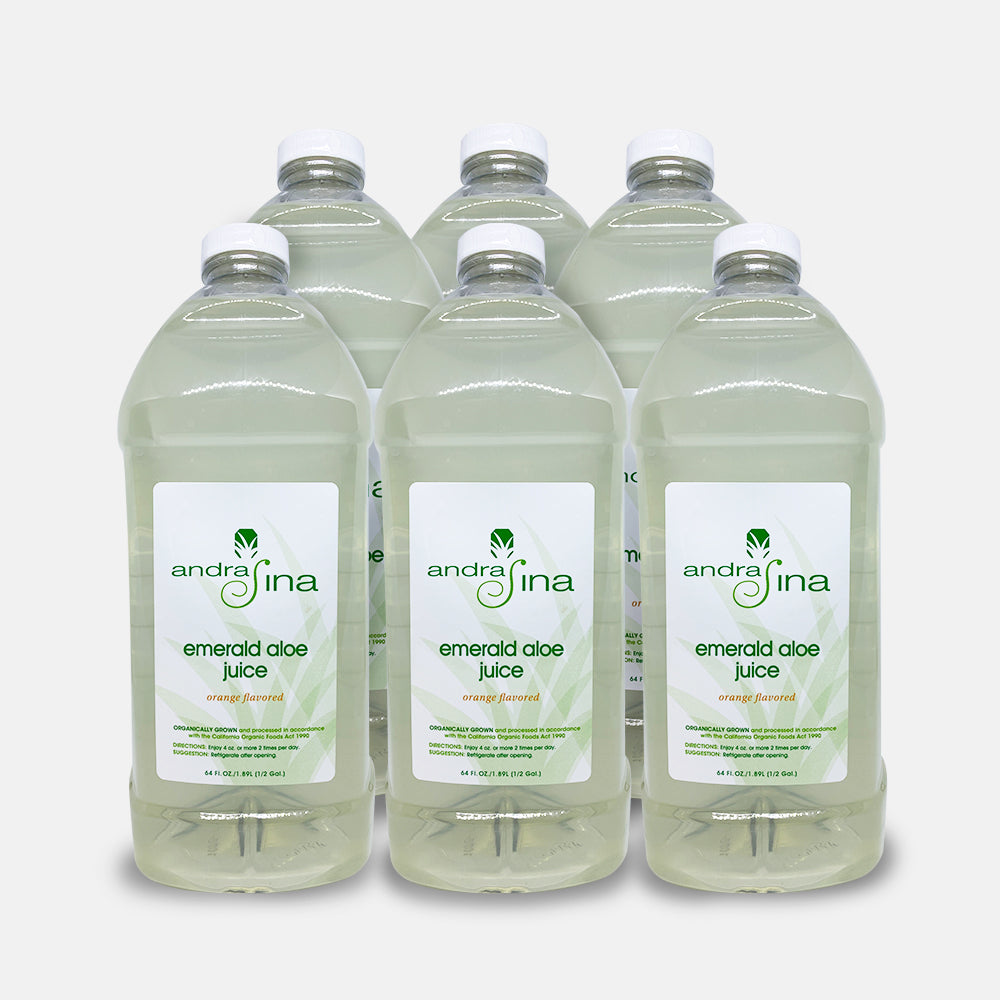 Emerald Aloe Juice<br> 64 oz - Pack Of 6