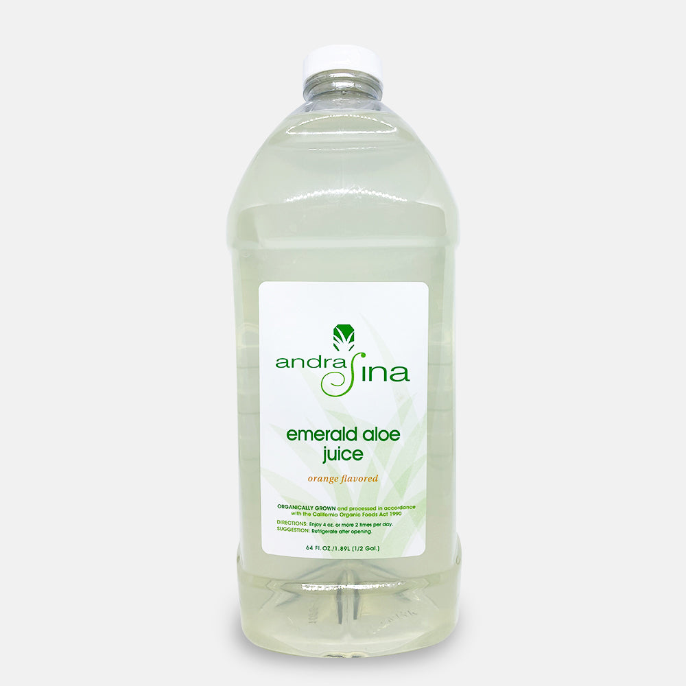 Emerald Aloe Juice - Orange<br> 64 oz.