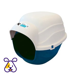 M-PETS® IGLOO DOG HOUSE XL - BLUE/NAVY