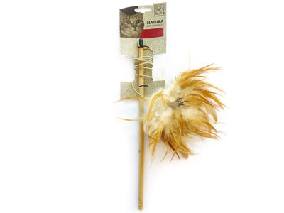 M-PETS® CAT NATURA FEATHER WAND - MIXED COLORS