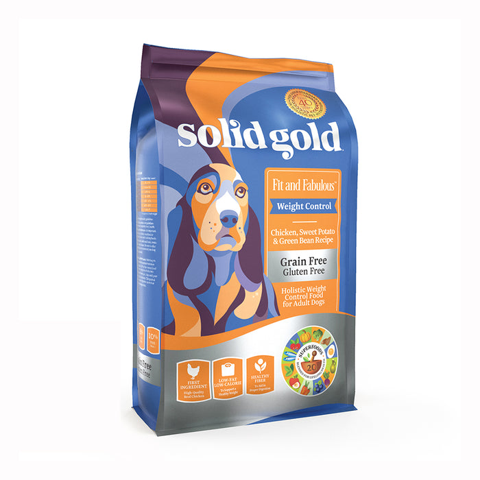 SOLID GOLD ALIMENTO PARA PERRO FIT & FABULOUS CHICKEN GRAIN FREE 4 LBS