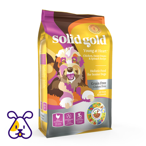 SOLID GOLD ALIMENTO P/PERRO SENIOR YOUNG AT HEART CHICKEN GRAIN FREE 4 LBS