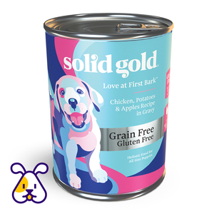 SOLID GOLD ALIMENTO P/CACHORRO LOVE AT FIRST BARK CHICKEN GRAIN FREE 13.2 OZ LATA