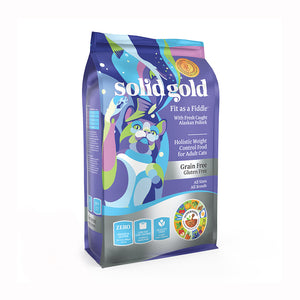 SOLID GOLD ALIMENTO PARA GATO FIT AS A FIDDLE ALASKAN POLLOCK GRAIN FREE 3 LBS