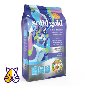 SOLID GOLD ALIMENTO P/GATO FIT AS A FIDDLE ALASKAN POLLOCK GRAIN FREE 12 LBS