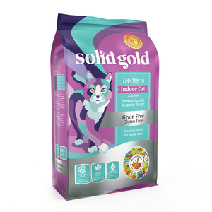 SOLID GOLD ALIMENTO P/GATO LETS STAY IN SALMON INDOOR GRAIN FREE 3 LBS