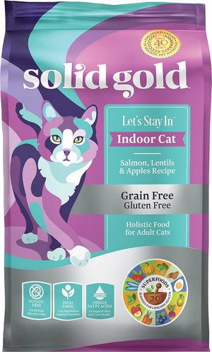 SOLID GOLD ALIMENTO P/GATO LETS STAY IN SALMON INDOOR GRAIN FREE 6 LBS
