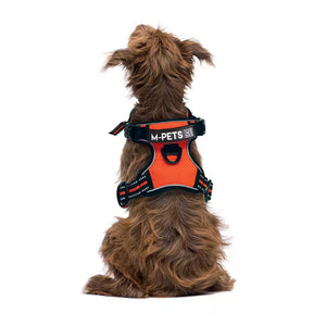 M-PETS HIKING TRIANGLE HARNESS LARGE - ORANGE BLACK