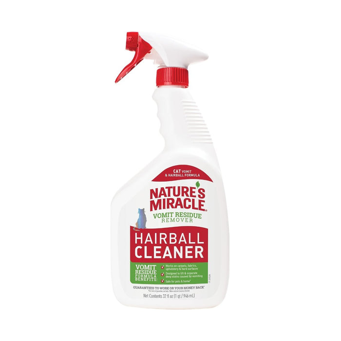 NATURES MIRACLE VOMIT RESIDUE REMOVER HAIRBALL CLEANER 32oz