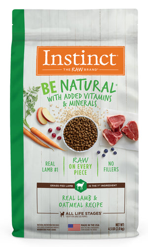 CONCENTRADO P/PERRO INSTINCT BE NATURAL LAMB & OATMEAL 4.5 LB