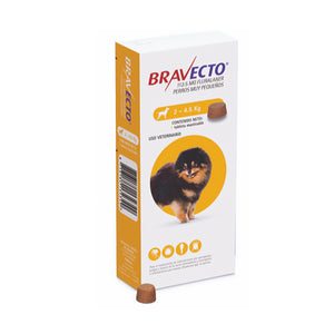 TABLETA MASTICABLE ANTIPULGAS BRAVECTO