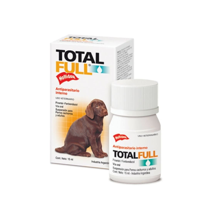 DESPARASITANTE P/PERRO TOTAL FULL CACHORROS SUSPENSION 15 ML
