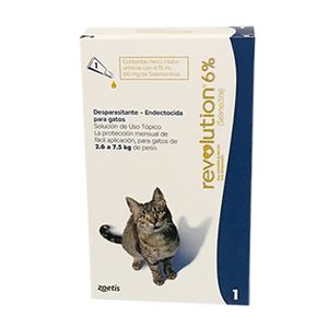 PIPETA P/GATO REVOLUTION AZUL GATOS 075 ML