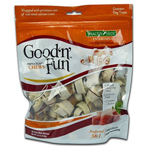 HUESO DE CARNAZA GOOD-N-FUN TRIPLE FLAVOR MINI BONES 8.2 OZ