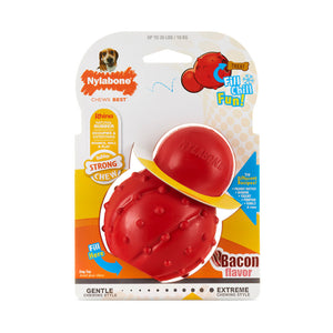 NYLABONE STRONG CHEW RHINO CONE BACON - GIANT