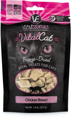 VITAL ESSENTIALS CAT FREEZE-DRIED CHICKEN BREAST GRAIN FREE (1oz)