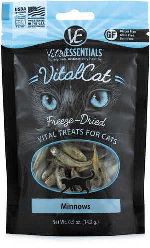 VITAL ESSENTIALS CAT FREEZE-DRIED MINNOWS GRAIN FREE (0.5 oz)