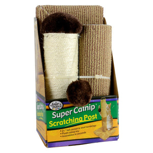 FOUR PAWS SUPER CATNIP SCRATCHING POST 21 PLG