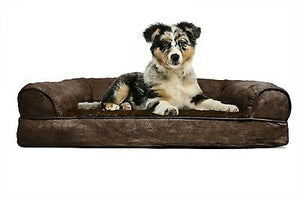 FURHAVEN CAMA P/PERRO ORTHOPEDIC SOFA PLUSH AND SUEDE JUMBO ESPRESSO