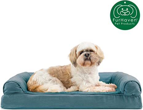 FURHAVEN CAMA P/PERRO ORTHO SOFA QUILTED POLYTWILL ENSING BLUE - M