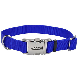 "COASTAL® METAL BUCKLE COLLAR BLUE 1"" X 18""-26"""