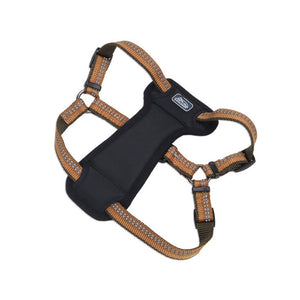 "COASTAL REFLECTIVE PADDED HARNESS ORANGE 1"" X 20""-30"""