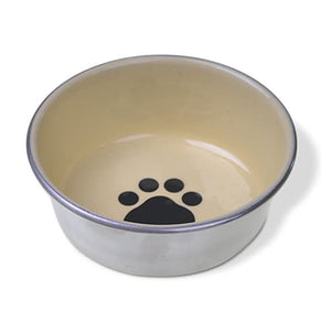 PLATO PARA GATO VAN NESS DECORATED STAINLESS 8 OZ