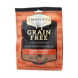DARFORD TREATS PARA PERRO GRAIN FREE BACON 340g