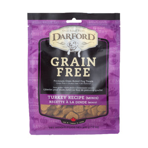 DARFORD TREATS PARA PERRO GRAIN FREE TURKEY 340g
