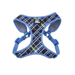 COASTAL ® RIBBON DESIGNER WRAP ADJUSTABLE DOG HARNESS NAVY BLUE PLAID - MEDIUM