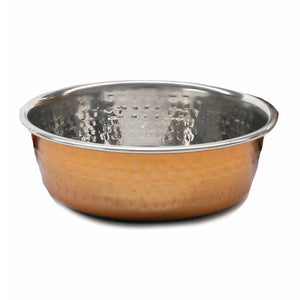 ROSEWOOD PET BOWLS DELUXE STEEL HAMMERED COPPER 470 ML