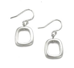 Sea Lily Silver Square Earring