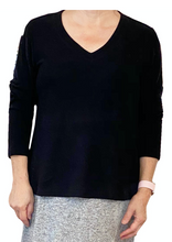 Load image into Gallery viewer, La Cera V-Neck Comfort Collection Long Sleeve Top (4 Colors)
