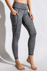 Full Length Heathered Legging (3 Colors)