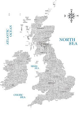 British Isles Satnav - Prints - Dead Famous Cities - 1