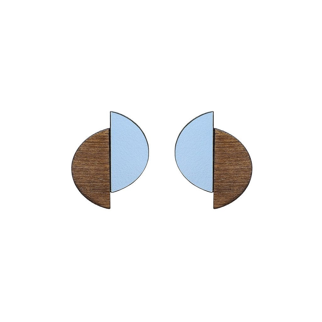 Claire Formica Studs - Peaceful Blue