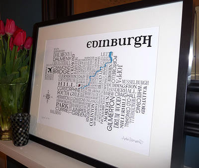 Edinburgh Satnav - Prints - Dead Famous Cities - 1