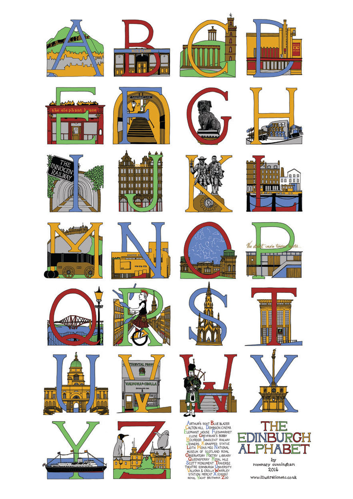 Edinburgh Alphabet - Prints - Rosemary Cunningham - 1