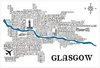 Glasgow Satnav - Prints - Dead Famous Cities - 3